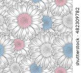 beautiful abstract seamless... | Shutterstock .eps vector #482309782
