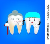 decay senior tooth with dentist.... | Shutterstock .eps vector #482310232