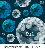 abstract blue and white sphere... | Shutterstock .eps vector #482311795