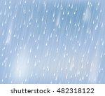 torrential rain. vector... | Shutterstock .eps vector #482318122
