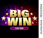 big win banner for lottery or... | Shutterstock .eps vector #482323066