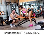 personal fitness instructor... | Shutterstock . vector #482324872