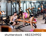 personal fitness instructor... | Shutterstock . vector #482324902