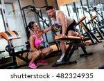 female personal fitness... | Shutterstock . vector #482324935