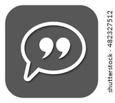the quote sign icon. quotation... | Shutterstock . vector #482327512