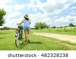 rear view full length portrait... | Shutterstock . vector #482328238