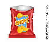 open realistic red chips... | Shutterstock .eps vector #482328472