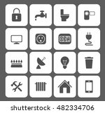 utilities icons set. vector... | Shutterstock .eps vector #482334706