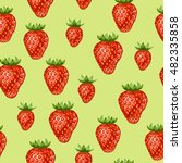 seamless pattern with red... | Shutterstock .eps vector #482335858