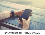 close up hands of the girl ... | Shutterstock . vector #482339122