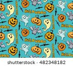 seamless pattern for halloween. ... | Shutterstock .eps vector #482348182