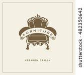 furniture logo template. luxury ... | Shutterstock .eps vector #482350642
