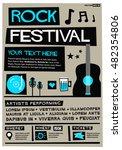 rock festival   flat style... | Shutterstock .eps vector #482354806