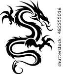dragon tattoo   tribal dragon   ... | Shutterstock .eps vector #482355016