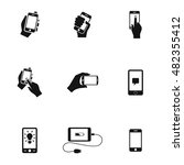 smartphone vector icons. simple ...