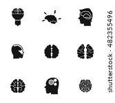 brain vector icons. simple...