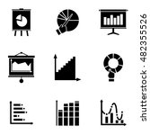 graph  vector icons. simple...