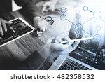 medical technology network team ... | Shutterstock . vector #482358532