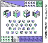 vector isometric alphabet.... | Shutterstock .eps vector #482360842