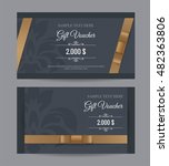 gift voucher template with... | Shutterstock .eps vector #482363806
