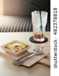 food and drink   tasty lasagna... | Shutterstock . vector #482378818