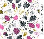 autumn leaves. seamless pattern. | Shutterstock .eps vector #482379628