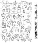 travel hand drawn cartoon... | Shutterstock .eps vector #482382616