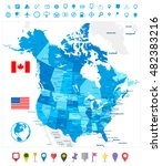 usa and canada large detailed... | Shutterstock .eps vector #482383216