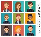 set recruitment employee hired... | Shutterstock .eps vector #482383426