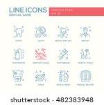 dental care   set of modern... | Shutterstock .eps vector #482383948