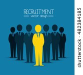 recruitment employee hired... | Shutterstock .eps vector #482384185