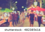 vintage tone blur image of... | Shutterstock . vector #482385616