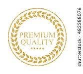 art golden medal icon sign...   Shutterstock .eps vector #482388076