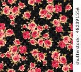 rose flower pattern  | Shutterstock .eps vector #482391556