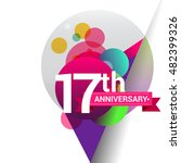 17th anniversary logo  colorful ... | Shutterstock .eps vector #482399326
