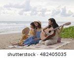 young asian woman friend... | Shutterstock . vector #482405035