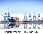 international container cargo... | Shutterstock . vector #482405332