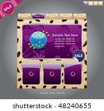 web site template design v.48 | Shutterstock .eps vector #48240655