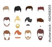 men hairstyle icons set with... | Shutterstock .eps vector #482408305