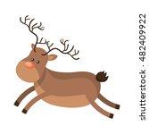 christmas deer animal   Shutterstock .eps vector #482409922