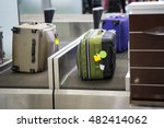 luggage on weight at check in...   Shutterstock . vector #482414062
