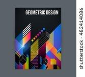 poster cover design template... | Shutterstock .eps vector #482414086
