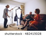 Two Homecare Nurses At An...