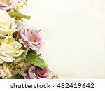 Artificial Purple Rose Flowers...