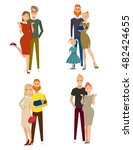 different kind of families.... | Shutterstock .eps vector #482424655