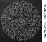 chalkboard vector hand drawn... | Shutterstock .eps vector #482428546