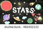outer space icons drawing... | Shutterstock . vector #482432122