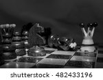 chess photographed on a... | Shutterstock . vector #482433196