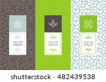 vector set of packaging design... | Shutterstock .eps vector #482439538