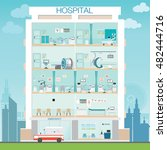 hospital building with doctor... | Shutterstock .eps vector #482444716